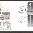 Seattle World's Fair 1962 Space Needle Washington, AC, Block of 4 First Issue USA