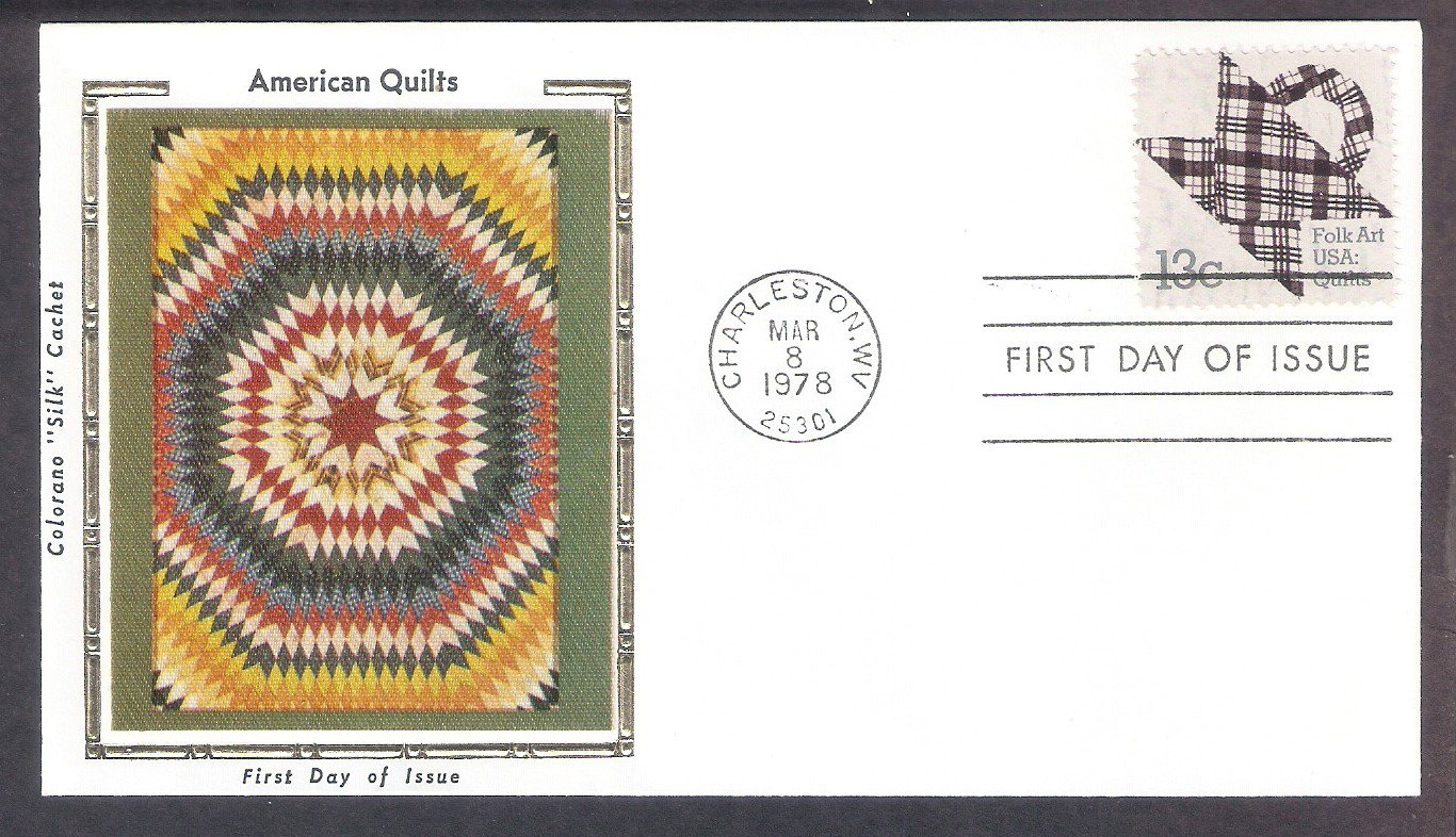American Quilts, Basket Design, Quilting, Folk Art, Colorano Silk, First Issue 1978 USA