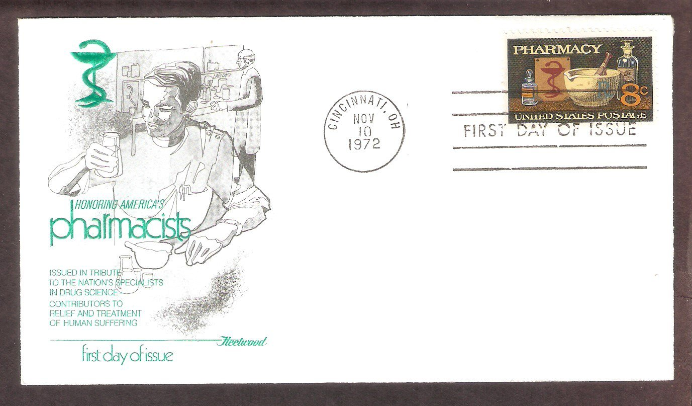 Pharmaceutical, Pharmacist, First Day of Issue Pharmacy Fleetwood FDC USA