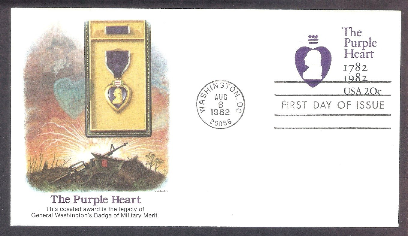 The Purple Heart, In the Service of Our Country Award, George Washington, FW, First Issue USA
