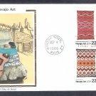 American Indian Navajo Art Blankets, Navajo Woman Weaving, CS, C, First Issue USA
