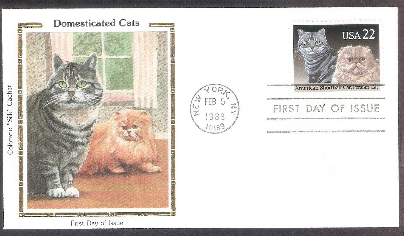 Cats, American Shorthair, Persian, Cat Breeds, CS, First Issue USA