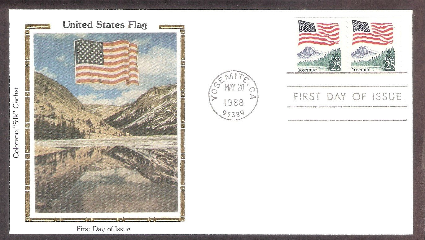Flag, Yosemite National Park, California, CS, First Day of Issue USA