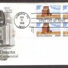 Centennial North Dakota Statehood, Grain Elevator, AC, First Issue USA