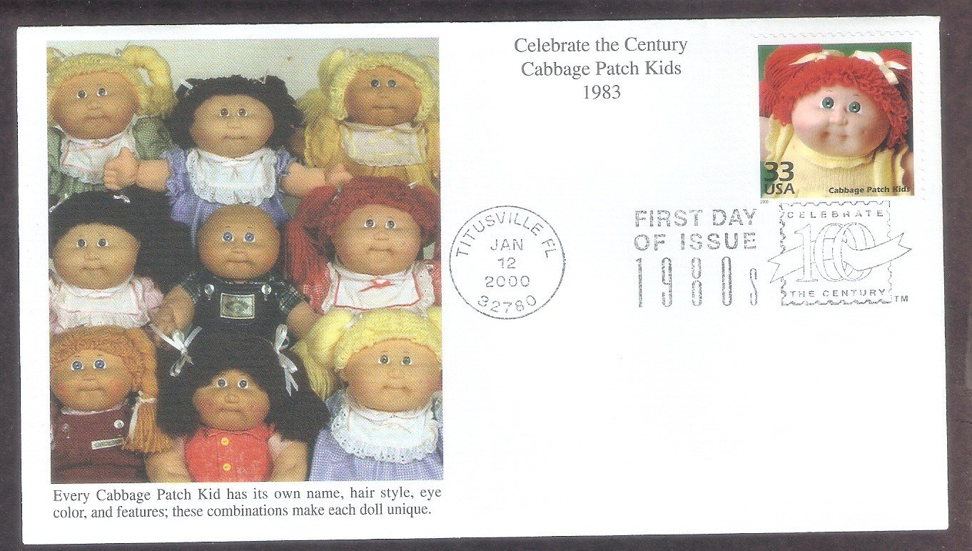 Cabbage Patch Kids Doll 1980s, Celebrate the Century, Mystic, First Day of Issue, USA!