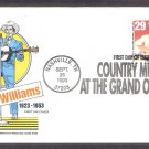 Hank Williams, Country and Western, Nashville, Tennessee, First Day of Issue USA
