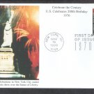 U.S. Celebrates 200th Birthday, Statue of Liberty, 1970s CTC, Mystic, FDC, First Day of Issue USA