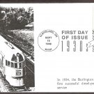 Streamlined Design, 20th Century Limited Locomotive, Celebrate the Century 1930s, LEB, FDC