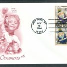 USPS Christmas Stamps 2004 Santa Claus Ornaments First Issue USA