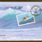 50th Anniversary, Hawaii Statehood, Riding the Surf, BGC, First Issue USA