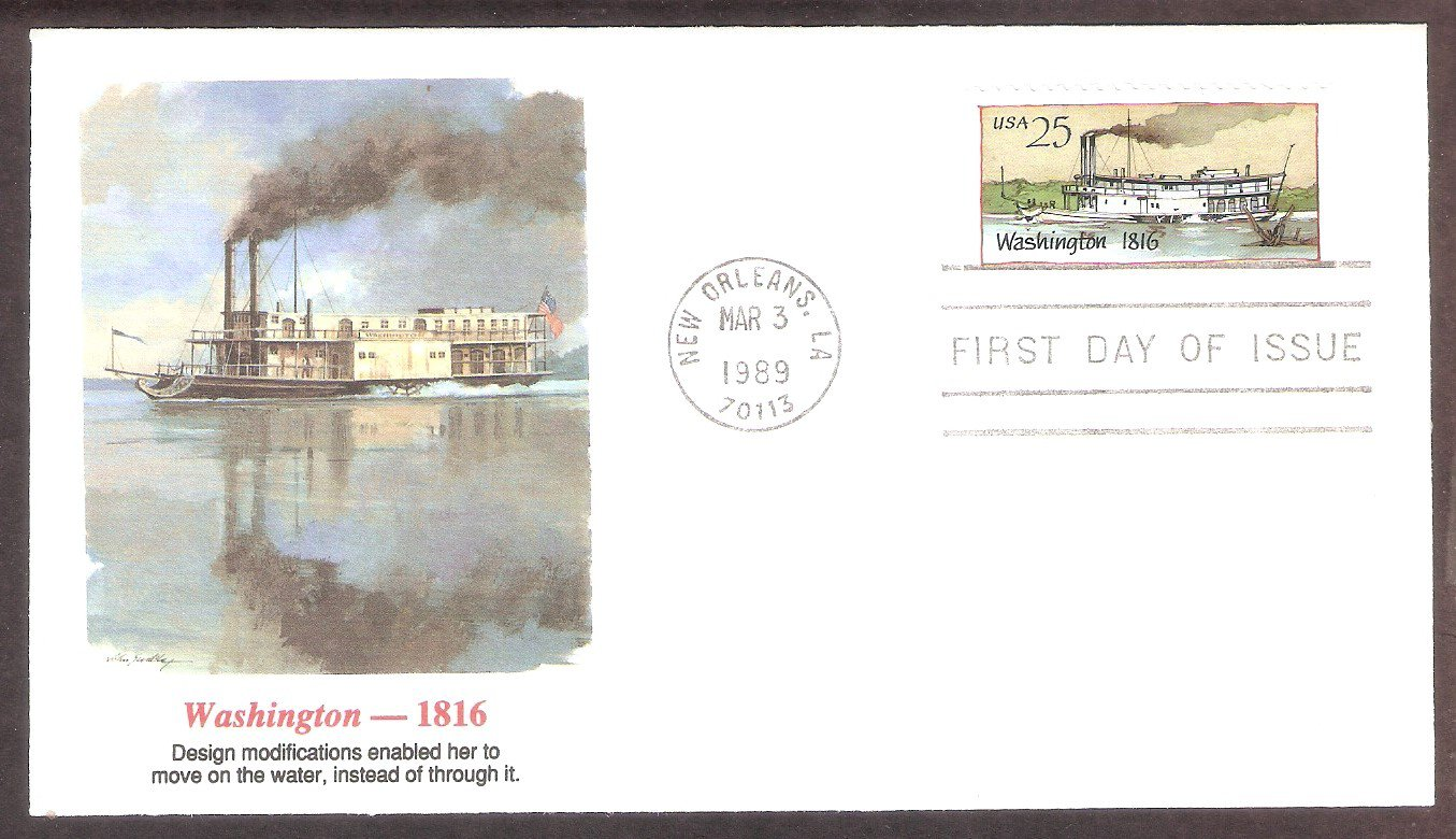 American Steamboat, Washington, 1816, FW First Issue USA