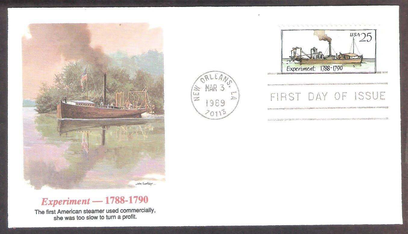 American Steamboat, Experiment, 1788-1790, FW, First Issue USA