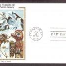 25th Anniversary Alaska Statehood, Fairbanks, Caribou, CS, First Issue USA