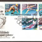 1992 Winter Olympics, Hockey, Figure Skating, Speed Skating, Skiing, Bobsledding, AC, First Issue