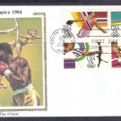 Olympics 1984, Discus, Women's High Jump, Women's Archery, Boxing, CS, First Issue USA