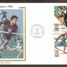 Olympics 1984, Cross Country Skiing, Ice Hockey, Ice Dancing, Alpine Skiing, CS, First Issue USA