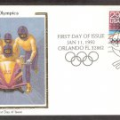 1992 Winter Olympics, Bobsledding, First Issue USA
