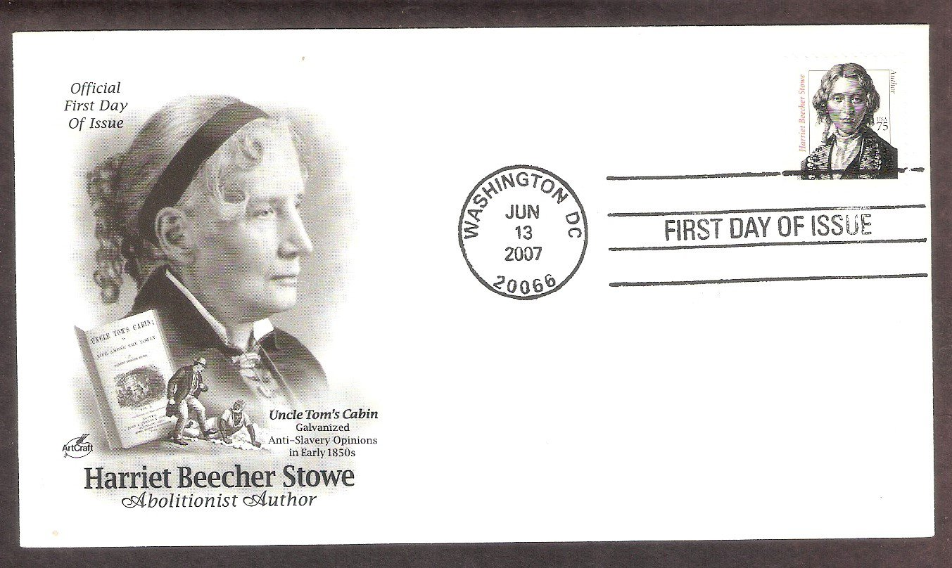 Writer Harriet Beecher Stowe, Abolitionist, Uncle Tom's Cabin, AC, First Issue USA