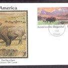 American Bison, Buffalo, Buffalo, Wyoming, Colorano Silk, First Issue USA