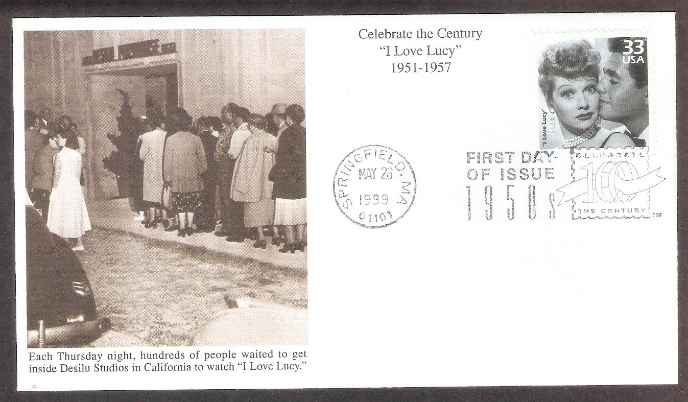 Celebrating the Century, 1950s, I Love Lucy,  Lucille Ball, Desi Arnaz, Mystic B, First Issue USA
