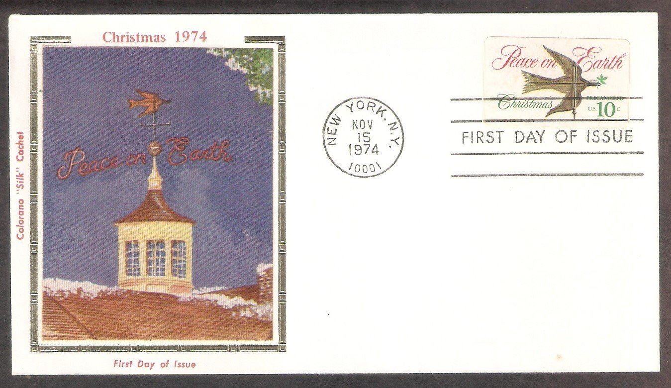 Christmas Stamp, Dove of Peace Weathervane, CS, 1974 First Issue USA