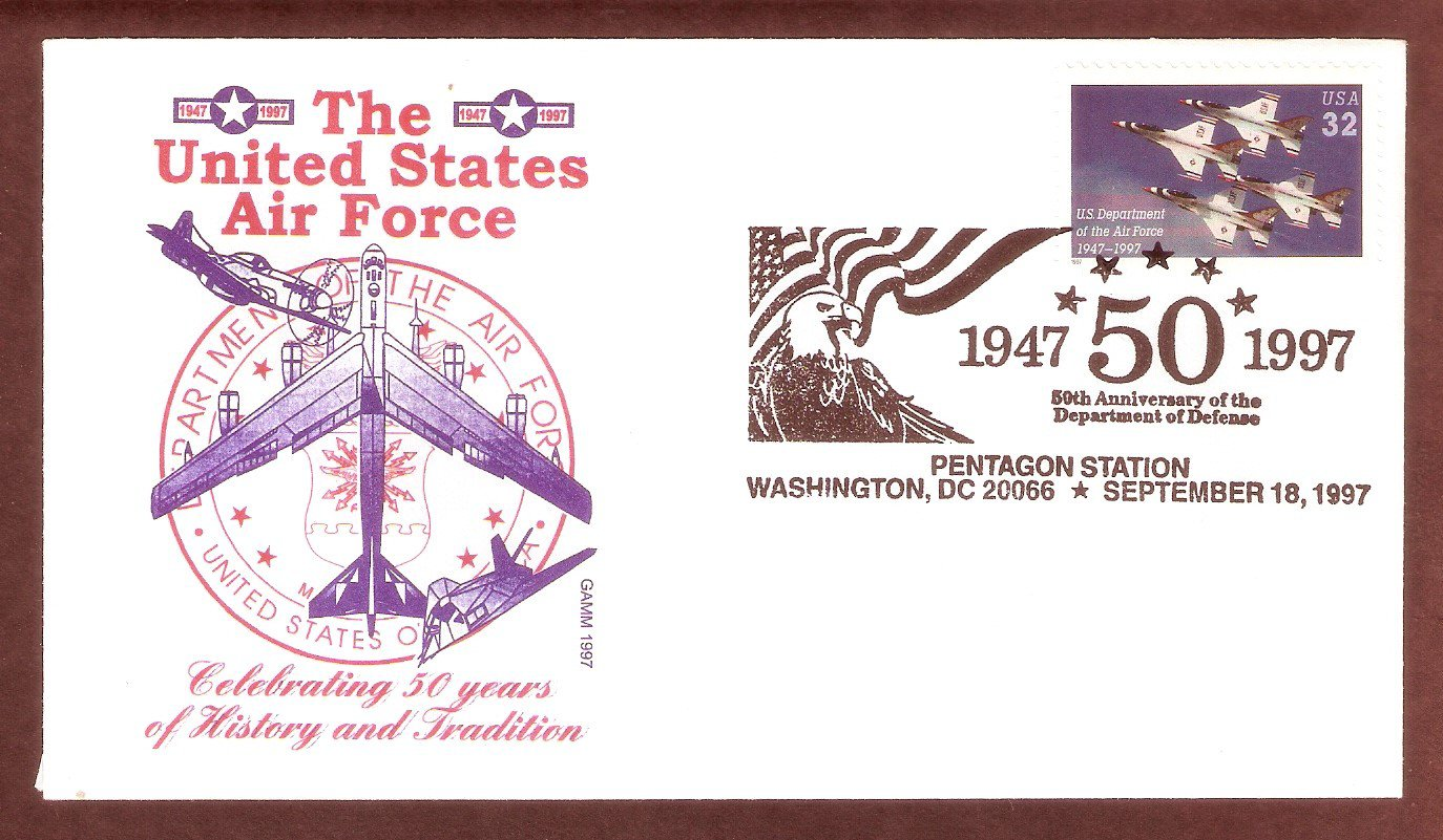 50th Anniversary of the U.S. Department of the Air Force, Aircraft, Thunderbirds, Gamm, First Issue