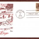 1976 USPS Christmas Stamp, Currier and Ives, Winter Pastime, BZ, First Issue USA