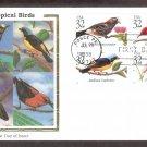 Tropical Birds, Puerto Rico, CS, First Issue USA
