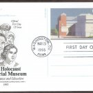U.S. Holocaust Memorial Museum Washington, DC, Postal Card, AC, First Issue USA