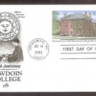 200th Anniversary Bowdoin College, Massachusetts Hall, Postal Card, AC, First Issue USA