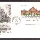 Centennial Cincinnati Music Hall, First Issue Postal Card USA
