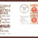 Honoring Mahatma Gandhi, Hindu Leader India, FW, First Issue USA
