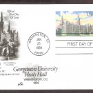 Georgetown University, Healy Hall, Postal Card First Issue USA