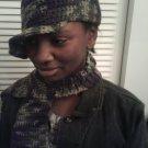 Camo ball cap with scarf