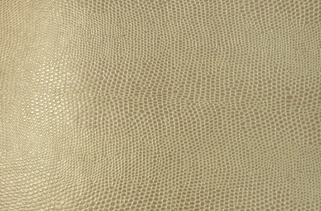 Brown Khaki Lizard Skin Snakeskin Faux Leather Leatherette