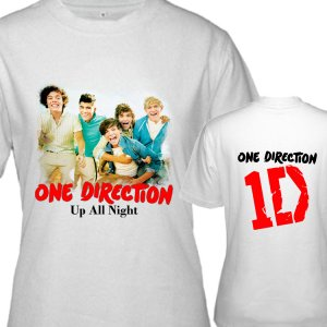 """1D One Direction """"Up All Night"""" Music (CD Album Ticket Concert Tour) T shirt S M L XL Size a2code"""