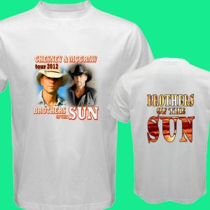 New Brothers of the Sun Tour 2012 Chesney & Mc Graw DVD Ticket T shirt S M L XL Size pic5
