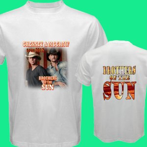 New Brothers of the Sun Tour 2012 Chesney & Mc Graw DVD Ticket T shirt S M L XL Size pic6
