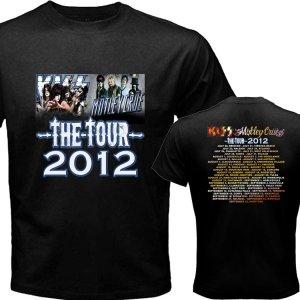 New Kiss Motley Crue Mötley Crüe pic8 DVD CD Tickets The Tour Date 2012 Tee T - Shirt