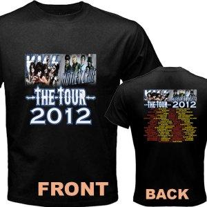 New Kiss Motley Crue Mötley Crüe pic12 DVD CD Tickets The Tour Date 2012 Tee T - Shirt