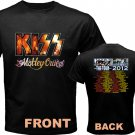 New Kiss Motley Crue Mötley Crüe pic14 DVD CD Tickets The Tour Date 2012 Tee T - Shirt