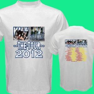 New Kiss Motley Crue Mötley Crüe pic16 DVD CD Tickets The Tour Date 2012 Tee T - Shirt