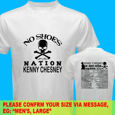 A09 Kenny Chesney No Shoes Nation Tour Date 2013 Tee T - Shirt SIZE S M L XL 2XL
