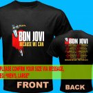 A01 Bon Jovi Because We Can Tour Date 2013 Tee T - Shirt SIZE S M L XL 2XL
