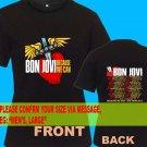 A02 Bon Jovi Because We Can Tour Date 2013 Tee T - Shirt SIZE S M L XL 2XL
