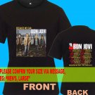 A04 Bon Jovi Because We Can Tour Date 2013 Tee T - Shirt SIZE S M L XL 2XL