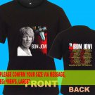 A06 Bon Jovi Because We Can Tour Date 2013 Tee T - Shirt SIZE S M L XL 2XL