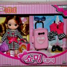 Cute Little Mimi Korean Doll Set in Shopping Day