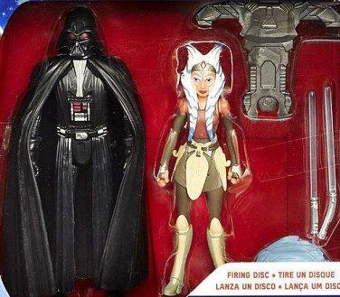 """New Hot Star Wars Rebels Darth Vader and Ahsoka Tano Set 3.75"""" Figures by Hasbro"""