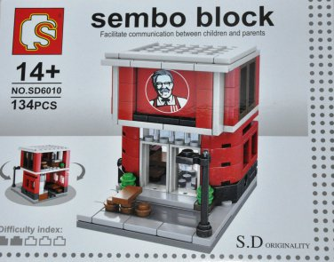 Sembo Block S.D Originality High Street Eatery Shop Series SD6010 Food Chain